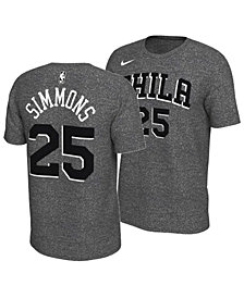 Nike Men's Ben Simmons Philadelphia 76ers Marled Player T-Shirt