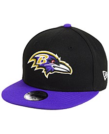 Boys' Baltimore Ravens Two Tone 9FIFTY Snapback Cap