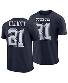 Men's Ezekiel Elliott Dallas Cowboys Pride Name and Number Wordmark T-Shirt