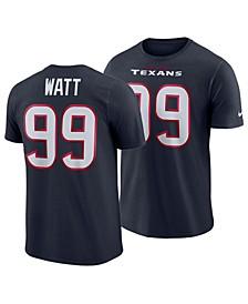 Men's J.J. Watt Houston Texans Pride Name and Number Wordmark T-Shirt
