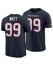Nike Men's J.J. Watt Houston Texans Pride Name and Number Wordmark T-Shirt