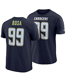 Men's Joey Bosa Los Angeles Chargers Pride Name and Number Wordmark T-Shirt