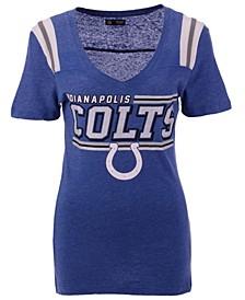 Women's Indianapolis Colts Shoulder Stripe T-Shirt