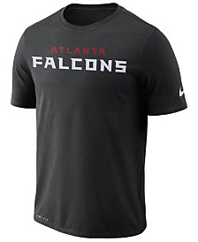 Nike Men's Atlanta Falcons Dri-FIT Cotton Essential Wordmark T-Shirt