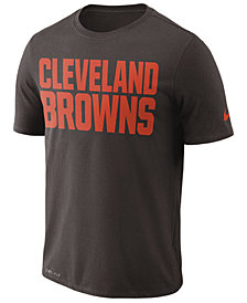 Nike Men's Cleveland Browns Dri-FIT Cotton Essential Wordmark T-Shirt