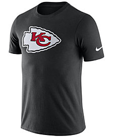 Nike Men's Kansas City Chiefs Dri-Fit Cotton Essential Logo T-Shirt