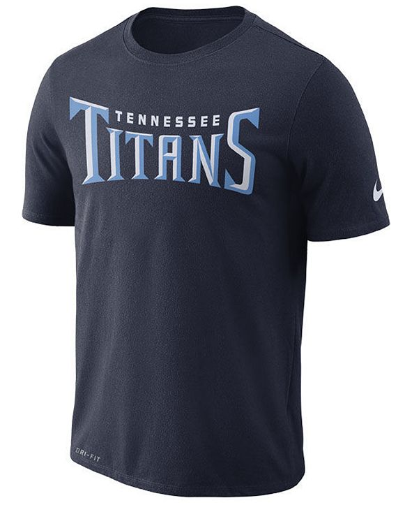 Nike Men's Tennessee Titans Dri-FIT Cotton Essential Wordmark T-Shirt