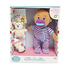 Manhattan Toy Wee Baby Stella Beige Sleepy Times Scent 12 Inch Soft Baby Doll Set