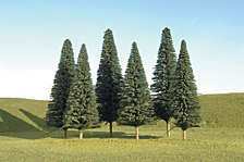 Bachmann Trains 5 To 6 Inch Pine Trees 6 Per Box Ho Scale