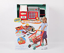 Gi Go Toy Deluxe Shopping Cart And Cash Register Set