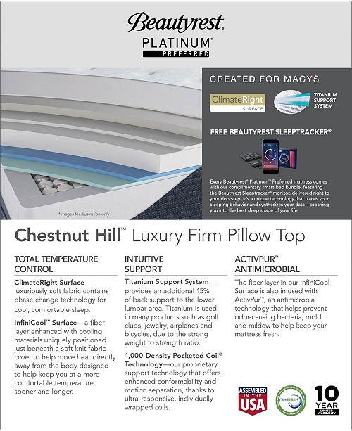 Beautyrest Platinum Preferred Chestnut Hill 15 Quot Luxury