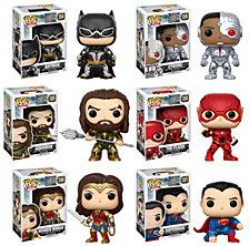 Funko Pop Movies Dc Justice League Collectors Set, Batman, Aquaman, Cyborg, The Flash, Wonder Woman, Superman
