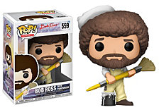 Funko Pop Tv Bob Ross Collectors Set 2, Bob Ross In Overalls, Bob Ross And Raccoon, Limited Chase Item Is Bob Ross And Hoot The Owl