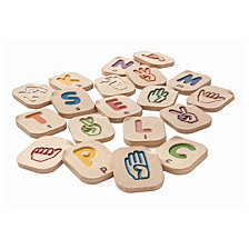 Plantoys Hand Sign Alphabet A To Z Learning Set