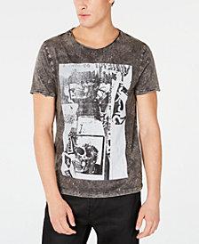 GUESS Mens Acid Skulls Graphic T-Shirt