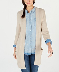 Long Thermal-Stitch Cardigan Sweater, Created for Macy's