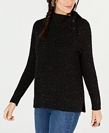 Style & Co Snap Cowl-Neck Sweater, Created for Macy's