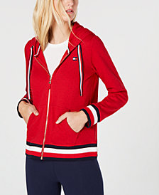 Tommy Hilfiger Allover-Print Zip-Front Hoodie, Created for Macy's
