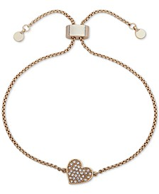 Pavé Heart Slider Bracelet, Created for Macy's