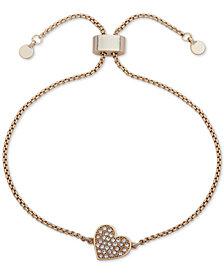 DKNY Pavé Heart Slider Bracelet