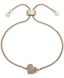 DKNY Pavé Heart Slider Bracelet, Created for Macy's