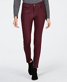 Style & Co Coated Ultra-Skinny Jeans, Created for Macy's