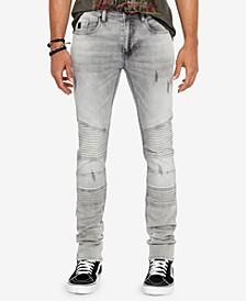 Men's Max-X Skinny-Fit Stretch Moto Jeans