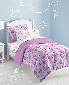 Dream Factory Stars & Crowns Fl Comforter Set