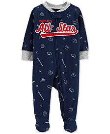 Carter's Baby Boys 1-Pc. All-Star Cotton Footed Pajamas