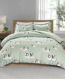 True North By Sleep Philosophy Cozy Flannel Full/queen 3 Piece Duvet Set