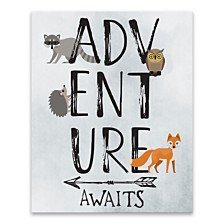 Adventure Awaits Printed Canvas