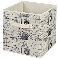 Home Basics Paris Collection Non-Woven Storage Bin