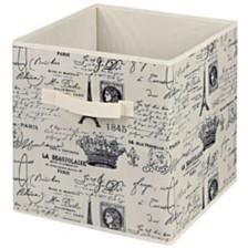 Home Basics Paris Collection Non-Woven Storage Bin