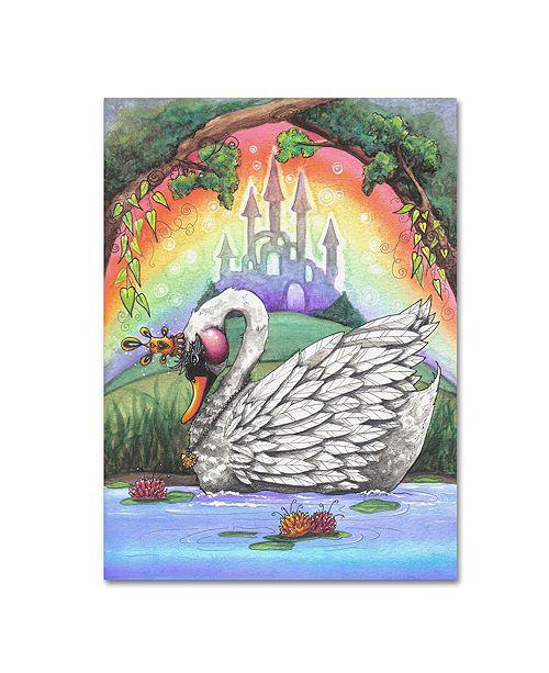 "Trademark Global Jennifer Nilsson The Swan Princess Canvas Art - 11"" x 14"" x 0.5"""