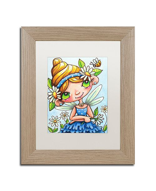 "Trademark Global Jennifer Nilsson Daisy Flower Fairy Matted Framed Art - 11"" x 14"" x 0.5"""