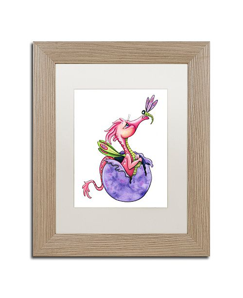 "Trademark Global Jennifer Nilsson Sugar and Spice Dragon Matted Framed Art - 16"" x 20"" x 0.5"""