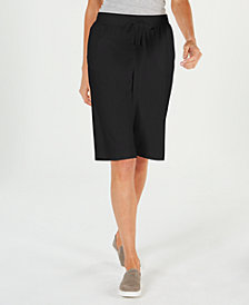 Karen Scott Petite Skimmer Shorts, Created for Macy's