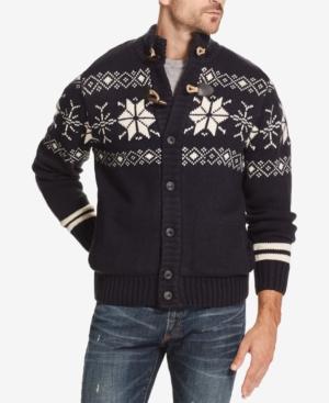 1920s Mens Sweaters, Pullovers, Cardigans Weatherproof Vintage Mens Fair Isle Sweater Jacket $41.23 AT vintagedancer.com