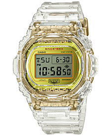 G-Shock Men's Digital Transparent Resin Strap Watch 45.4mm