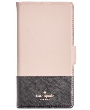 Kate Spade New York Magnetic Wrap Folio Iphone X2 Case in Black/Tusk/Gold