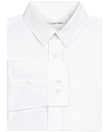 Little Boys Stretch-Poplin Collared Shirt