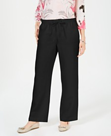 Charter Club Linen Drawstring-Waist Pants, Created for Macy's
