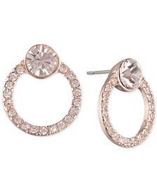 Givenchy Crystal Open Circle Button Earrings