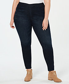 Eileen Fisher Plus Size Organic Cotton Skinny Jeggings