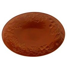 Certified International Autumn Fields Acorn Pumpkin Oval Platter