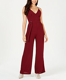 LEYDEN Crisscross Wide-Leg Jumpsuit
