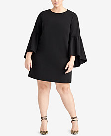 RACHEL Rachel Roy Plus Size Bell-Sleeve Shift Dress