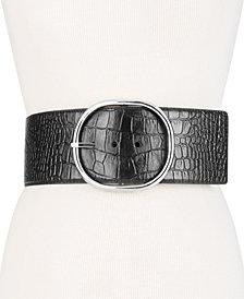 MICHAEL Michael Kors Oversized Croc-Embossed Belt