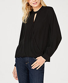 Eileen Fisher Silk Mock-Neck Top