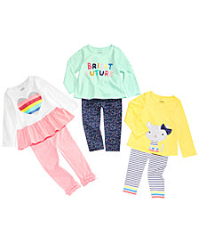 First Impressions Baby Girls Bright Future Mix & Match Tunic and Leggings Separates, Created for Macy's